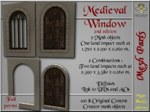 Medieval window II - 1 LI each - 2 FULL PERMS Meshes
