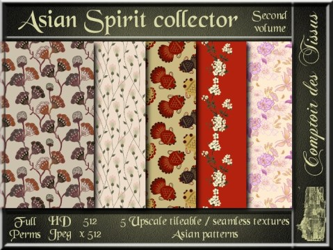 Asian Spirit collector II - 5 FULL PERMS Textures