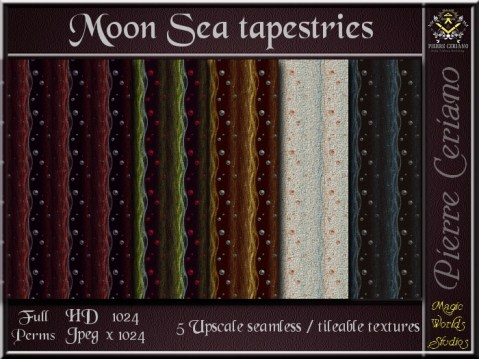 Moon Sea Tapestries - 5 FULL PERMS Textures