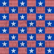 Patriotic fabric 1 Linen s