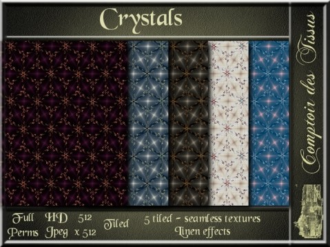Crystals - 5 FULL PERMS Textures