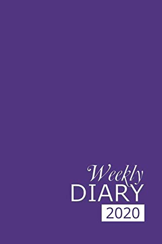 Weekly Diary 2020: Purple Weekly Diary for 2020, Week to View (January to December) Planner (6×9 inch) (Clark Diaries & Journals)