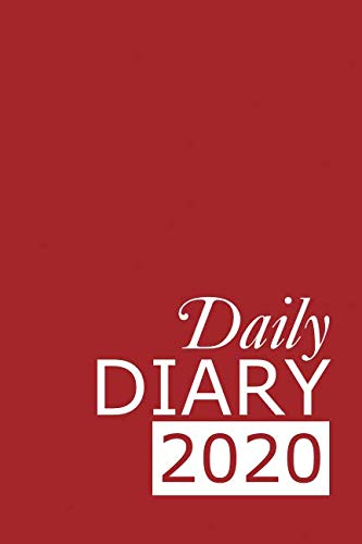 Daily Diary 2020: Red 365 Day Tabbed Journal January – December (Clark Diaries & Journals)