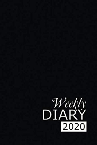 Weekly Diary 2020: Black Weekly Diary for 2020, Week to View (January to December) Planner (6×9 inch) (Clark Diaries & Journals)