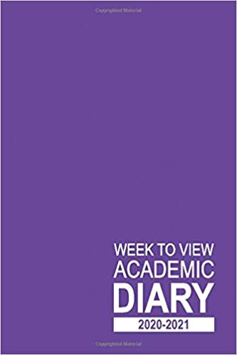 Week to View Academic Diary 2020-2021: 16 Month Purple Weekly Diary for 2020-2021, Week to View (September 2020 to December 2021) Planner (6×9 inch) (2020-2021 16-Month Week to View Diaries) Paperback – Large Print