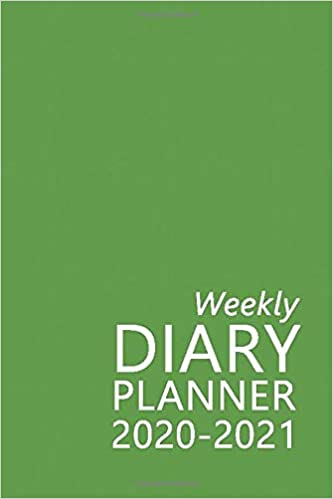 Weekly Diary Planner 2020-2021: The 16 Month Green Mini Large Print Diary for 2020-2021, Week to View (September 2020 to December 2021) Planner (4×6 inch) (Large Print Mini Diaries 2020-2021) Paperback – Large Print