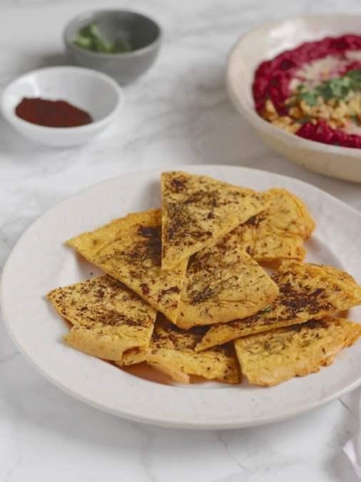 Gram Flour Tortilla Chips / Flatbread with Cheats Za'atar