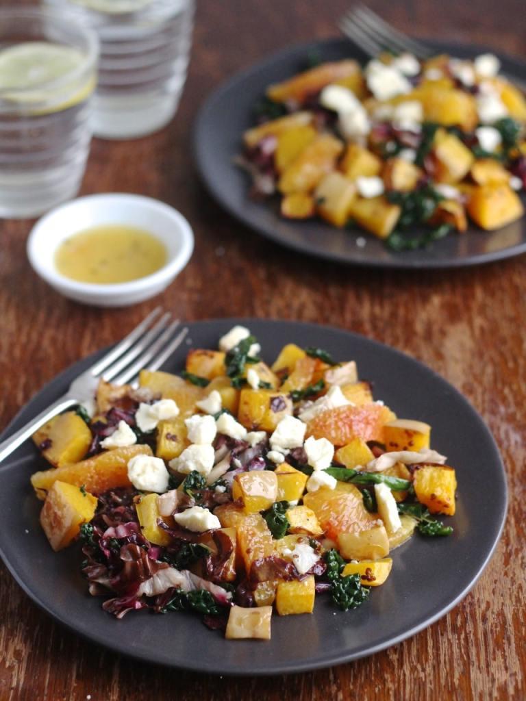 Squash Blood Orange Radicchio Salad, a warm Winter Salad   Natural Kitchen Adventures