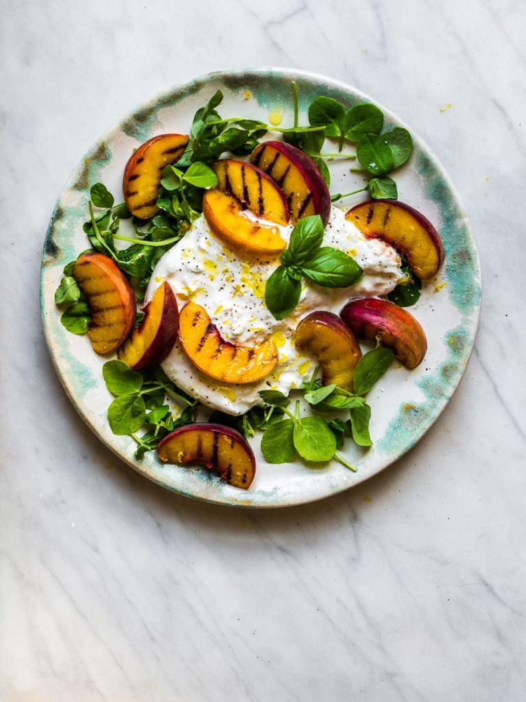 Peach with Burrata   Natural Kitchen Adventures
