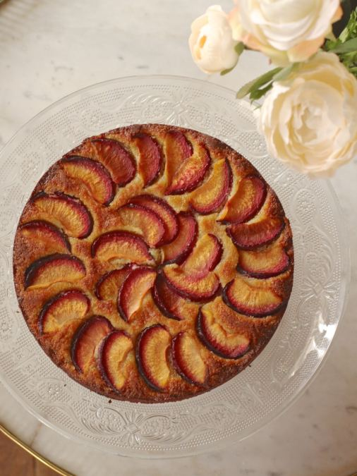 Plum Almond Honey Torte