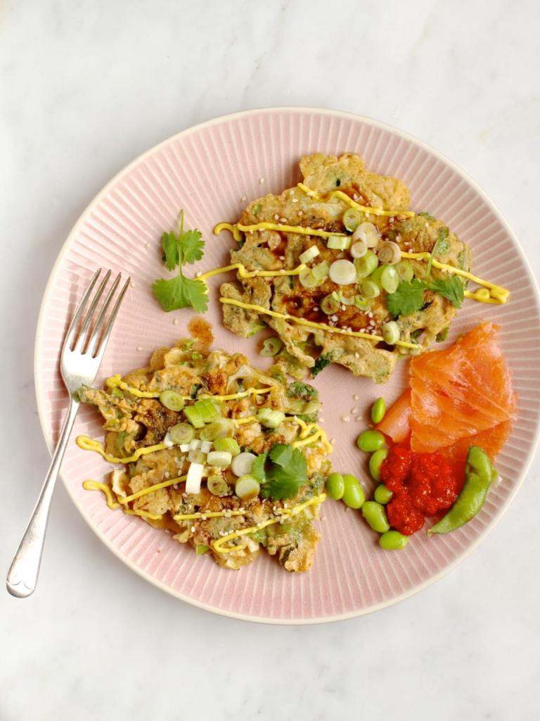 Okonomiyaki Japanese Cabbage Pancakes | Natural Kitchen Adventures