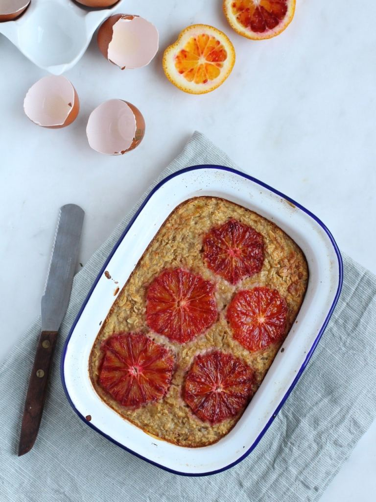 Oat Breakfast Bake with Blood Orange | Natural Kitchen Adventure
