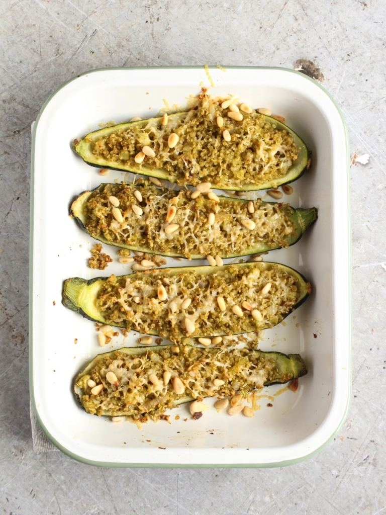quinoa stuffed courgette | Natural Kitchen Adventures