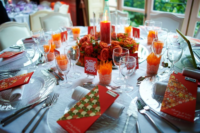 Mariageetdécoration - table orange