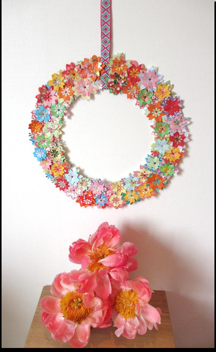 diy #5 : une couronne de fleurs pour faire la fête - cerisier indigo
