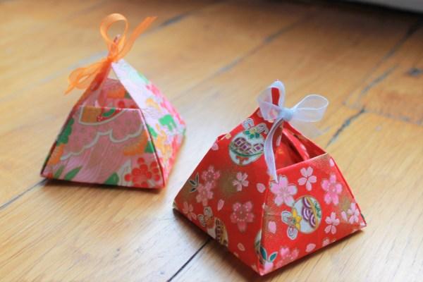 Ballotin boîte origami dragées cérémonie