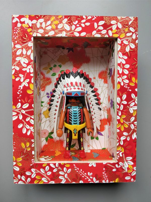 Cadre décoration Playmobil chef indien