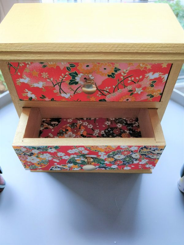 Cerisier indigo petit meuble bijoux tiroirs 1