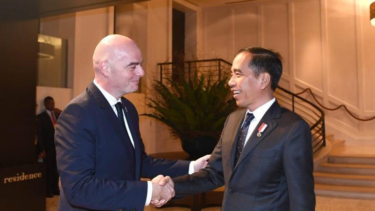 Presiden FIFA Bertemu Dengan Jokowi