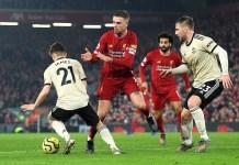 Liga Inggris Liverpool vs Man Utd Manchester United 2-0