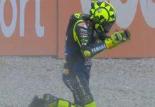 Jatuh di Le Mans, Valentino Rossi Pecahkan Rekor Buruk