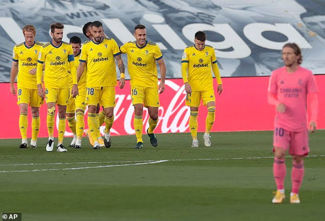 Real Madrid vs Cadiz (0-1), Juara La Liga yang Takluk dari Klub Promosi