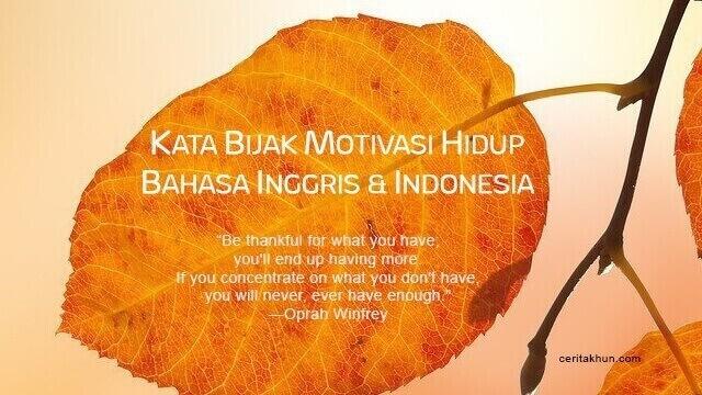 kata bijak motivasi hidup bahasa inggris dan indonesia