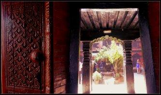 The door and the aisle in Kumari Ghar