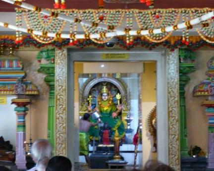 A ceremony on Sri Mariamman Temple