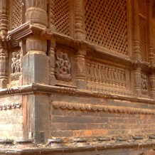 Relief on the wall of Dattatreya