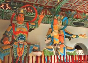 The guards at Zhong Hua temple, Lumbini