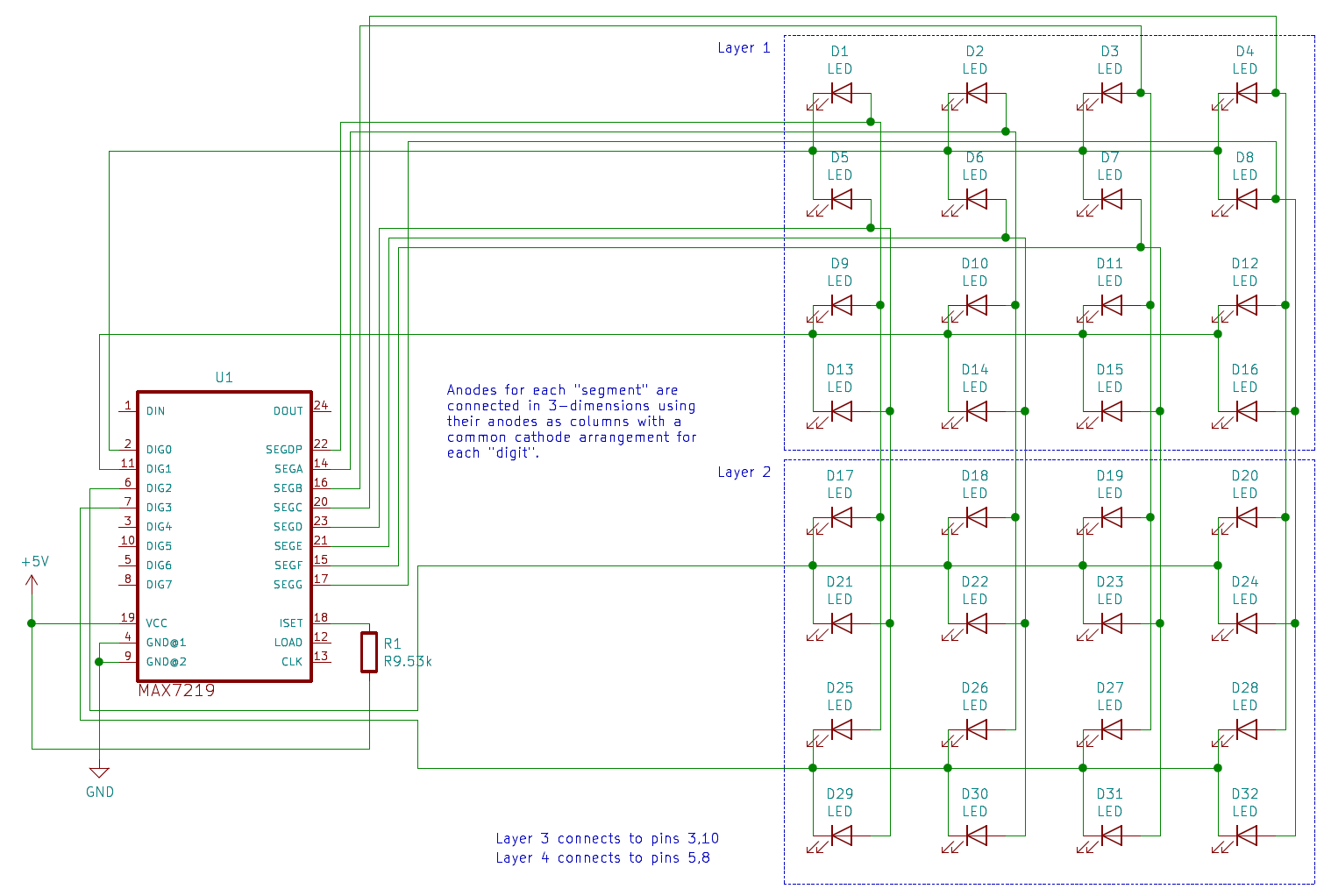 hight resolution of pins 3 10 5 and 8 will be connected to the other two layers pins 1 12 and 13 will be connected to the microcontroller s spi interface