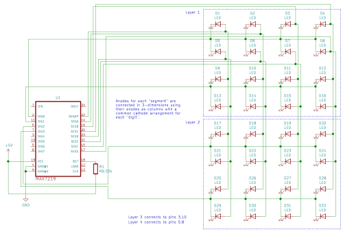 small resolution of pins 3 10 5 and 8 will be connected to the other two layers pins 1 12 and 13 will be connected to the microcontroller s spi interface