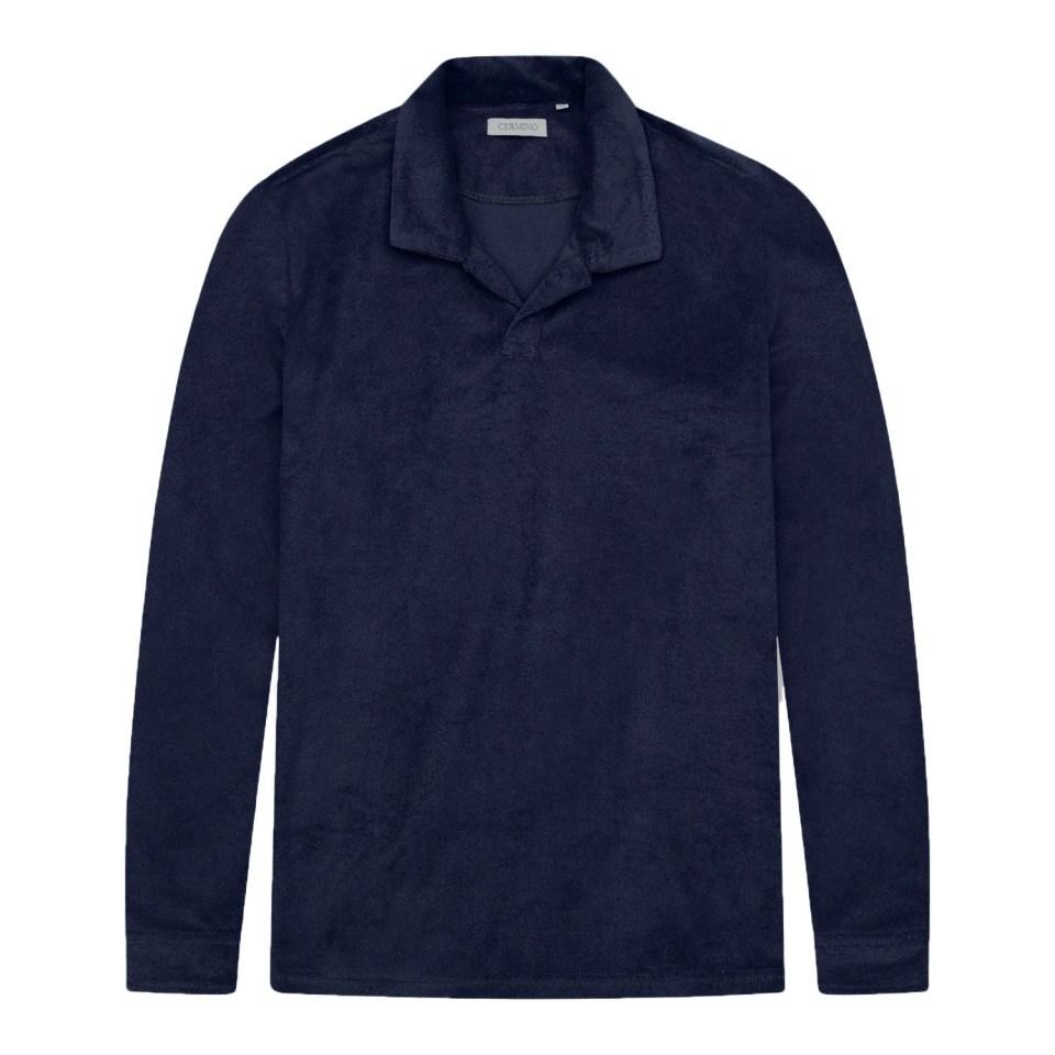 Navy Blue Terry Shirt