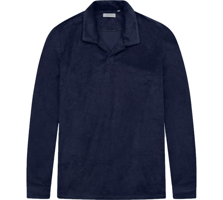 Navy Blue Terry Shirt