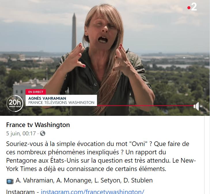 """""""Divulgation"""" 2021 : U.F.O par le Pentagone des Etats-Unis dans les chaînes Mainstream."""