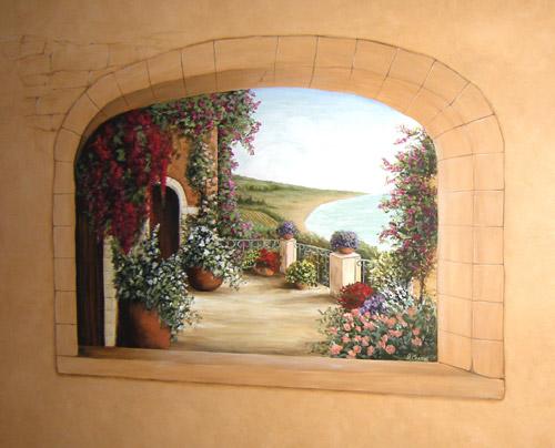 Trompe Loeil Windows  Muralist Debbie Cerone  Wall Murals