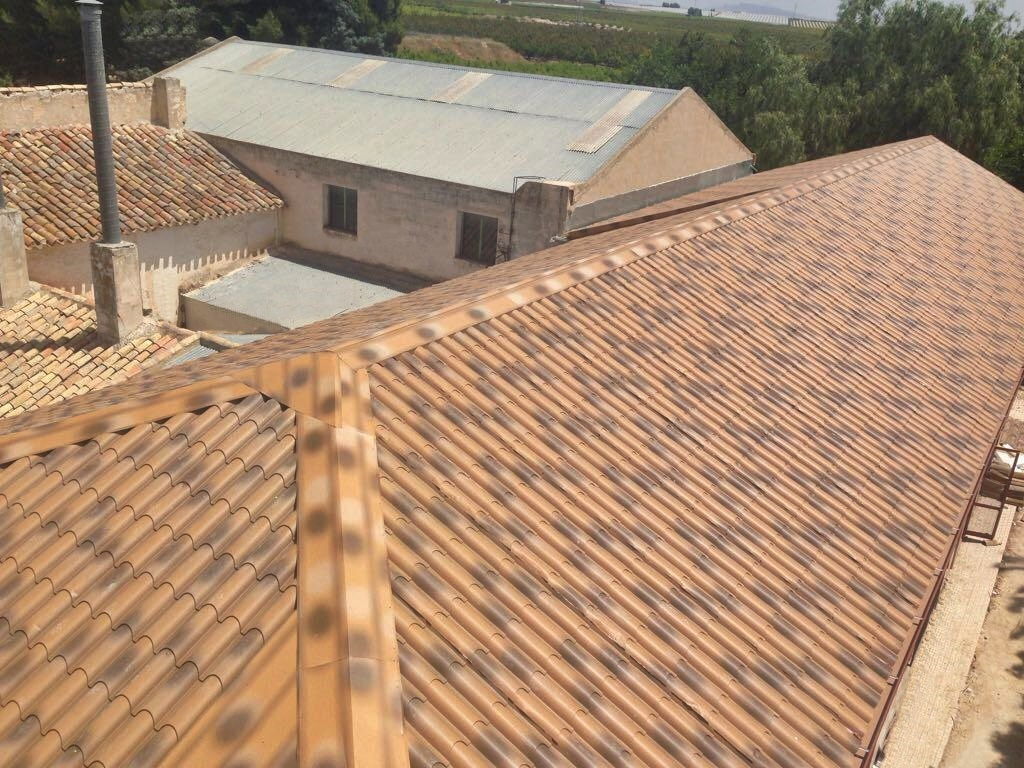 cubierta imitación teja