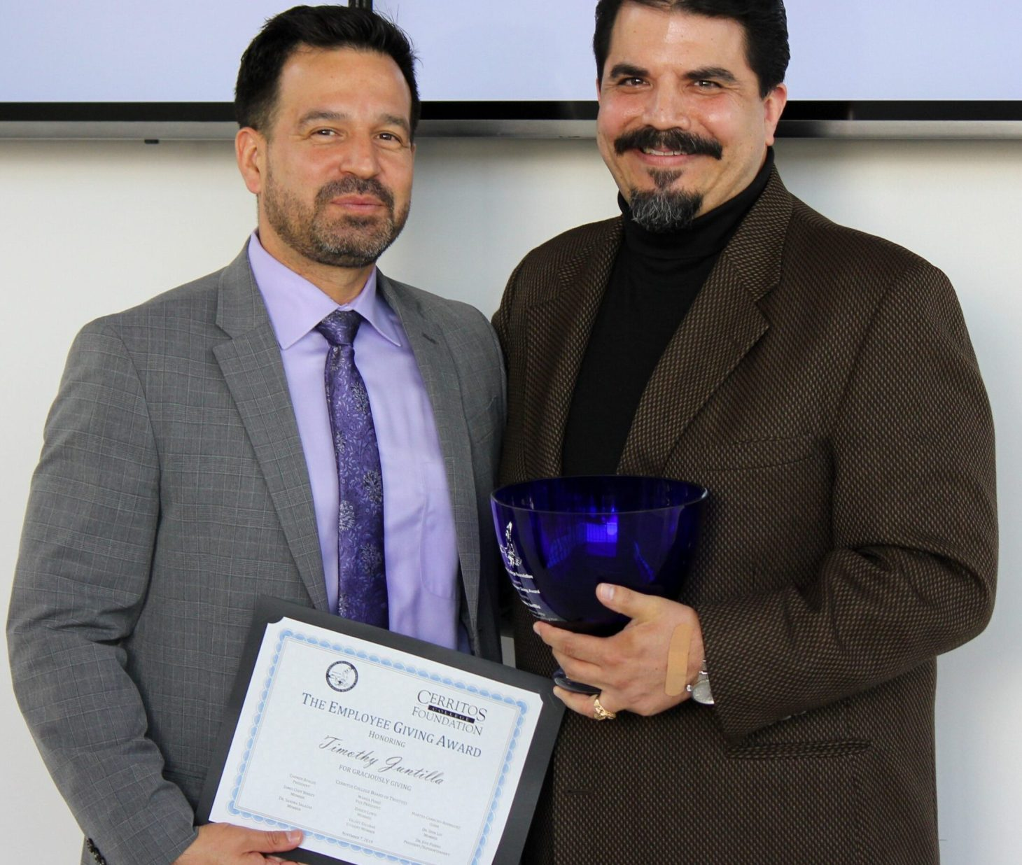 Dr. Jose Fierro and Timothy Juntilla