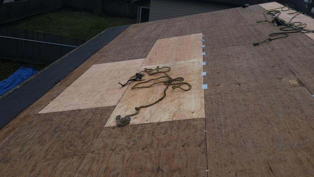 oofing inspection revealed damage