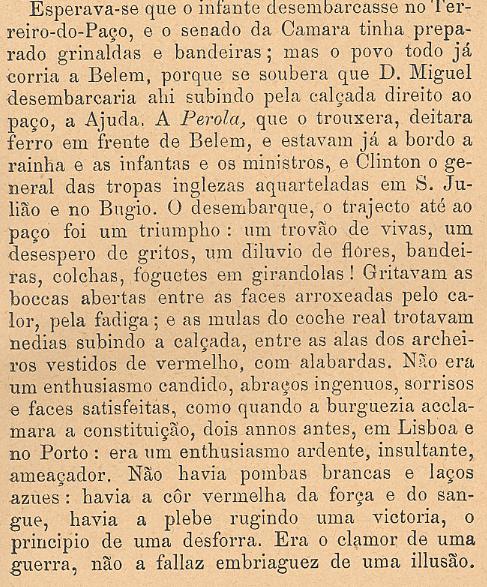 6 CHEGADA DE D. MIGUEL