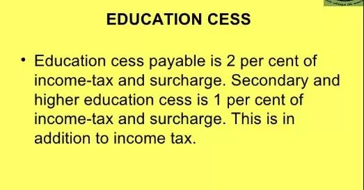 Educational Cess