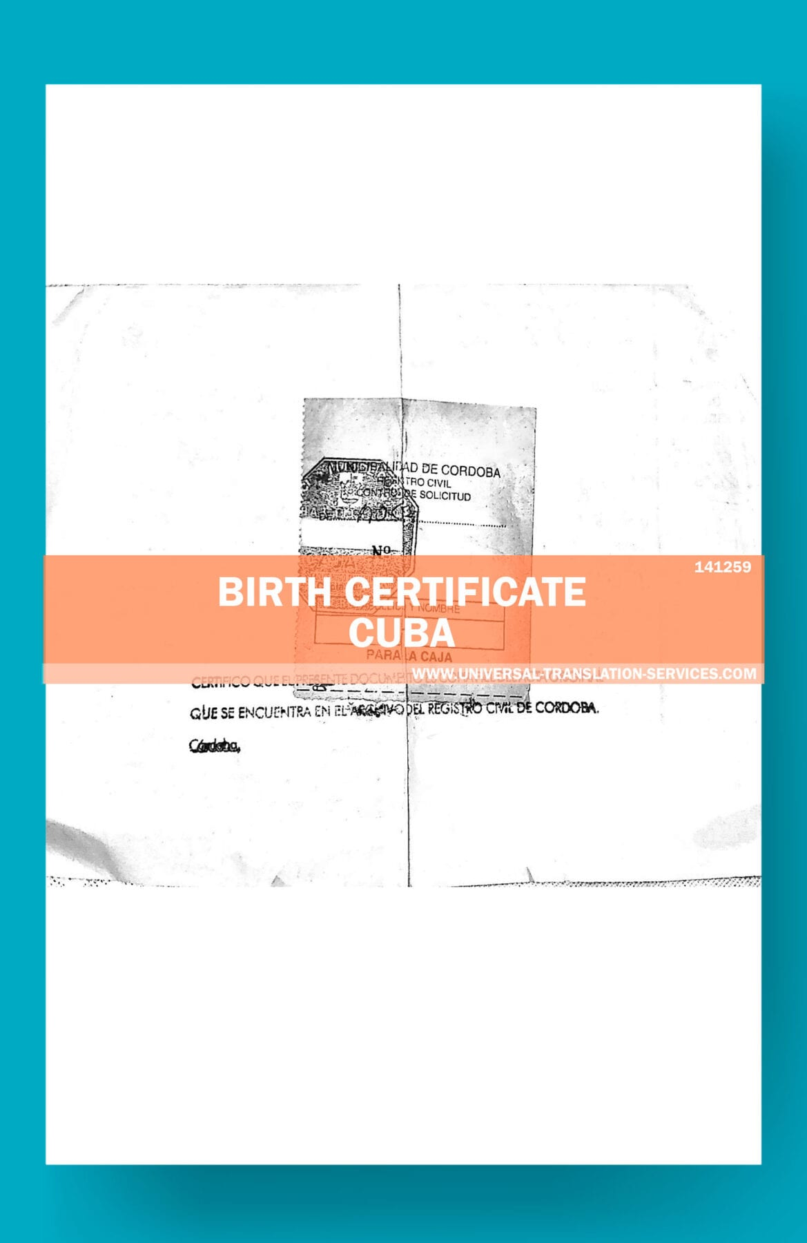 Buy Spanish Birth Certificate Translation Template Ata