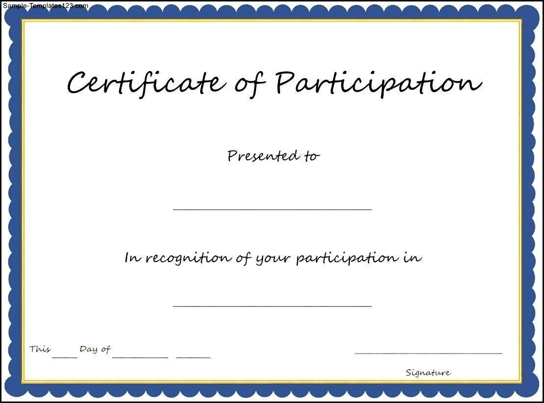 Design Certificate Of Participation Wordings