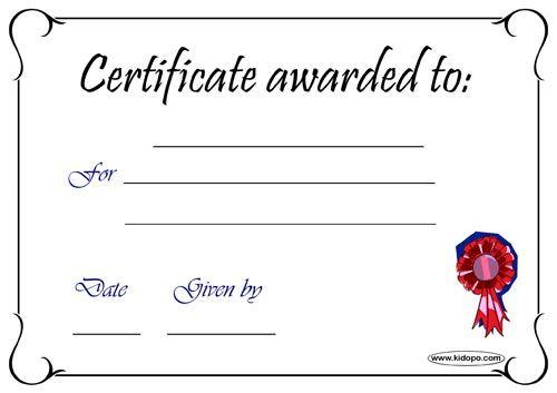 Blank Certificates-PDF