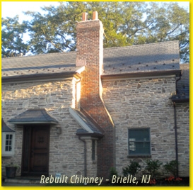 NJ Chimney Fireplace Roof  Dryer Vent Repair Service