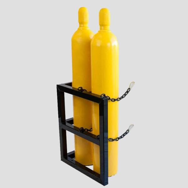 2d1w-l Gas Cylinder Storage Rack - Certified Medical