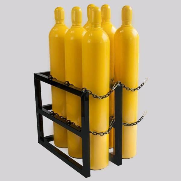 3d2w-l Gas Cylinder Storage Rack - Certified Medical