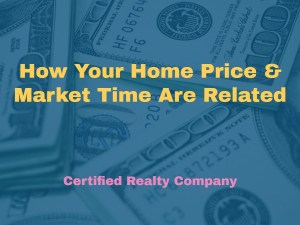 How Home Price Market Time Are Related, Oregon Real Estate