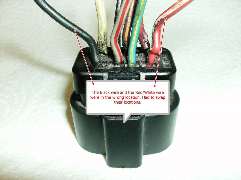 medium resolution of connector wrong wire location